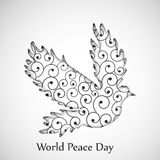 World Peace Day background. Illustration of elements for world peace day Royalty Free Stock Images