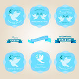 World peace day badges and labels design Royalty Free Stock Image