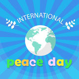 World Peace Day Earth International Holiday Poster Flat Royalty Free Stock Photos