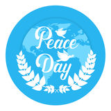 World Peace Day Earth International Holiday Poster Flat Stock Image
