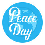 World Peace Day Earth International Holiday Poster Flat Royalty Free Stock Images