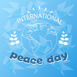 World Peace Day Earth International Holiday Poster Sketch Royalty Free Stock Images