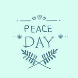World Peace Day Earth International Holiday Poster Royalty Free Stock Photos