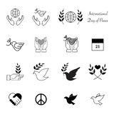World peace day icons design Stock Image