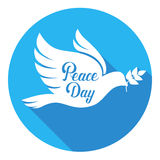 World Peace Day Poster White Dove Bird Symbol Stock Photography