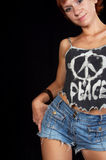 World peace fashion statement stock images