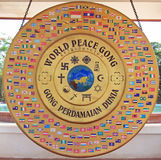 World peace gong in Vientiane Royalty Free Stock Images