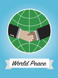 World peace motivation picture Stock Photos