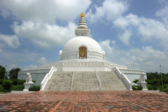World Peace Pagoda. In Pokhara,Nepal stock images
