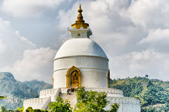World peace pagoda. In Pokhara Nepal Royalty Free Stock Photos