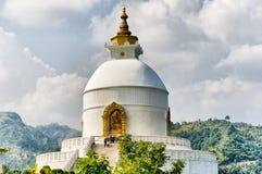 World peace pagoda Royalty Free Stock Photos