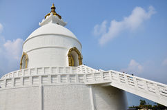 World Peace Pagoda of Pokhara in Annapurna Valley Nepal Stock Images
