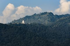 The World Peace Pagoda in Pokhara Royalty Free Stock Images