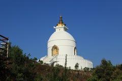 World Peace Pagoda in Pokhara Nepal Royalty Free Stock Image