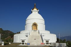 World Peace Pagoda in Pokhara Nepal Stock Photography