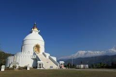 World Peace Pagoda in Pokhara Nepal Stock Photos