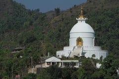 World Peace Pagoda in Pokhara Nepal Stock Images