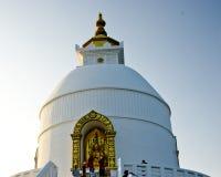World Peace Pagoda. In Pokhara, Nepal Royalty Free Stock Photos
