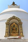World Peace Pagoda in Pokhara, Nepal Royalty Free Stock Photo