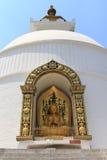 World Peace Pagoda in Pokhara, Nepal Royalty Free Stock Photo
