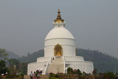 World Peace Pagoda , Pokhara, Nepal Stock Photos