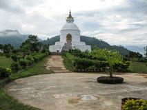 World Peace Pagoda in Pokhara Royalty Free Stock Image
