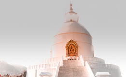 World Peace Stupa,Pokhara,Nepal Royalty Free Stock Photo