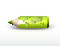 World pencil vector illustration