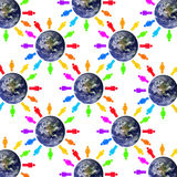 World people. Interaction between and networking of the people of the world Royalty Free Stock Photo
