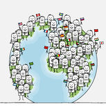 World people royalty free illustration