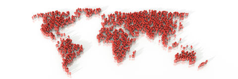 World people background. Original three dimensional illustration, business and corporate background royalty free illustration