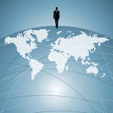 World people communication with businessman Royalty Free Stock Photography