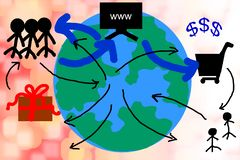 World and people connectiong around vector illustration
