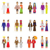 World people icon set Stock Images