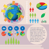 World and people infographic Stock Photos