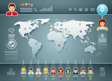 World and People Infographics Royalty Free Stock Images