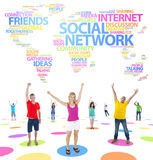 World People with Social Networking Concept Stock Photography