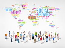 World People with Social Networking Concept Stock Photos