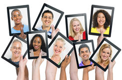 World People with Social Networking Concept Stock Images