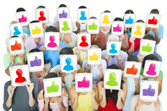 World People with Social Networking Concept Stock Image