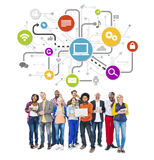 World People with Social Networking Concept Royalty Free Stock Photo