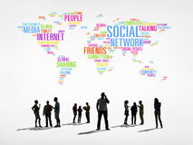 World People with Social Networking Concept Royalty Free Stock Photography