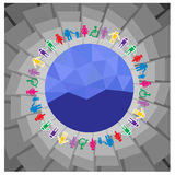 World and people vector Stock Images