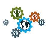 World and Person creative logo, unique vector symbol created. World and Person creative logo, unique vector symbol created with different icons. System and Stock Photo
