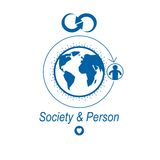 World and Person creative logo, unique vector symbol created wit. H different icons. System and social Matrix sign. Person and humankind interacts with each Royalty Free Stock Photo