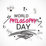 World Philosophy Day. Stock Images