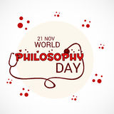 World Philosophy Day. Royalty Free Stock Images