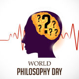 World Philosophy Day. Illustration of a Banner For World Philosophy Day Royalty Free Stock Images