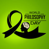 World Philosophy Day. Illustration of a Banner For World Philosophy Day Royalty Free Stock Image