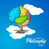 World Philosophy Day. Illustration of a Banner For World Philosophy Day Stock Image